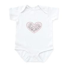 I Love You - Languages Infant Bodysuit