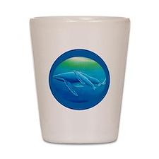 whales circle Shot Glass