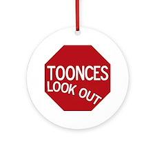 tooncesstopsign Round Ornament