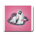 Shih Tzu and Flowers Mousepad