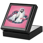 Shih Tzu and Flowers Keepsake Box