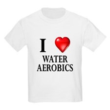 Love Water Aerobics Kids T-Shirt