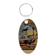 FIN-wild-turkey-art-GRTING Keychains