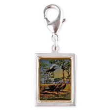 FIN-wild-turkey-art-GRTING Silver Portrait Charm