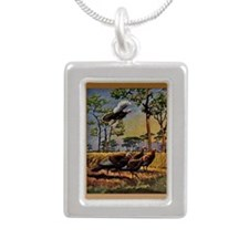 FIN-wild-turkey-art-GRTI Silver Portrait Necklace