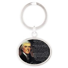 TJ Quotations Oval Keychain