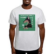 Doberman Bitch Ash Grey T-Shirt