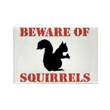 Beware of Squirrels Rectangle Magnet
