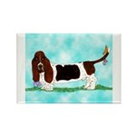 Basset Hound Rectangle Magnet (100 pack)