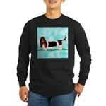 Basset Hound Long Sleeve Dark T-Shirt