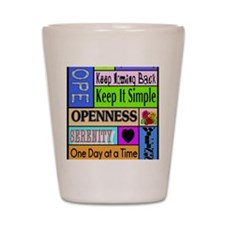 12 step sayings Shot Glass