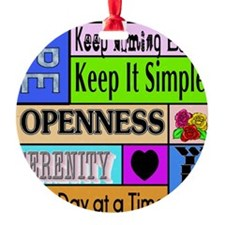 12 step sayings Ornament