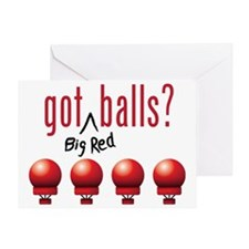 BigRedBalls_lite_crop Greeting Card