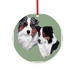 Australian Shepherd Twosome Ornament (Round)
