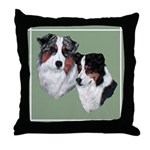 Australian Shepherd Twosome Throw Pillow