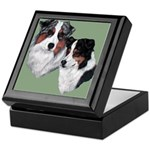 Australian Shepherd Twosome Keepsake Box