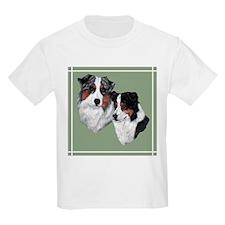 Australian Shepherd Twosome Kids T-Shirt