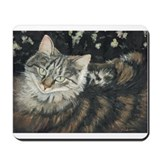 Mousepad w tabby cat