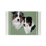 Australian Shepherd Twosome Rectangle Magnet (10 p