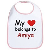 My heart belongs to amiya Bib