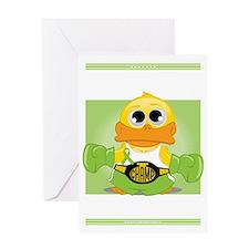 Knock-Out-NH-Lymphoma-BLK Greeting Card