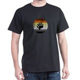 BLACK BEAR PAW/BRICK BEAR PRIDE STRIPED T-Shirt