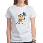Monkey with Balloons Women's T-Shirt