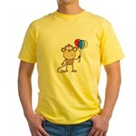 Monkey with Balloons Yellow T-Shirt