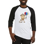 Monkey with Balloons Baseball Jersey