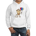 Monkey with Balloons Hooded Sweatshirt