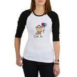 Monkey with Balloons Jr. Raglan