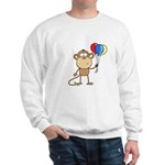 Monkey with Balloons Sweatshirt