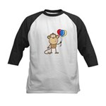 Monkey with Balloons Kids Baseball Jersey