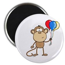 "Monkey with Balloons 2.25"" Magnet (10 pack)"