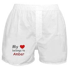 My heart belongs to amber Boxer Shorts