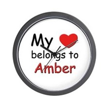 My heart belongs to amber Wall Clock