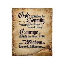 WEATHERED SERENITY PRAYER Throw Blanket