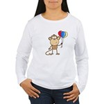 Monkey with Balloons Women's Long Sleeve T-Shirt