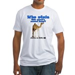 Who stole the hump? Fitted T-Shirt
