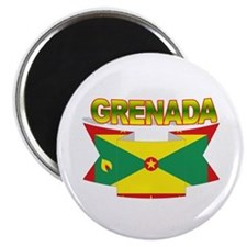 Grenada Flag Ribbon Magnet
