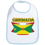 Grenada Flag Ribbon Bib