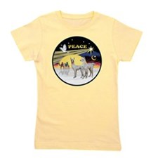 R-Night Flight - 2 Baby Llamas Girl's Tee