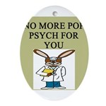 pop psych Ornament (Oval)