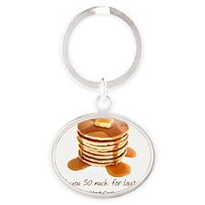 2-abc pancakes Oval Keychain
