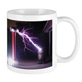 Huge Tesla Coil Small Mugs