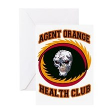 AGENT ORANGE HEALTH CLUB Greeting Card