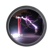 Huge Tesla Coil Wall Clock