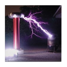 Huge Tesla Coil Tile Coaster
