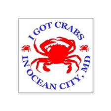 "OC_CRABS Square Sticker 3"" x 3"""