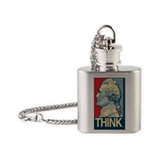 THINK-3x5 Flask Necklace